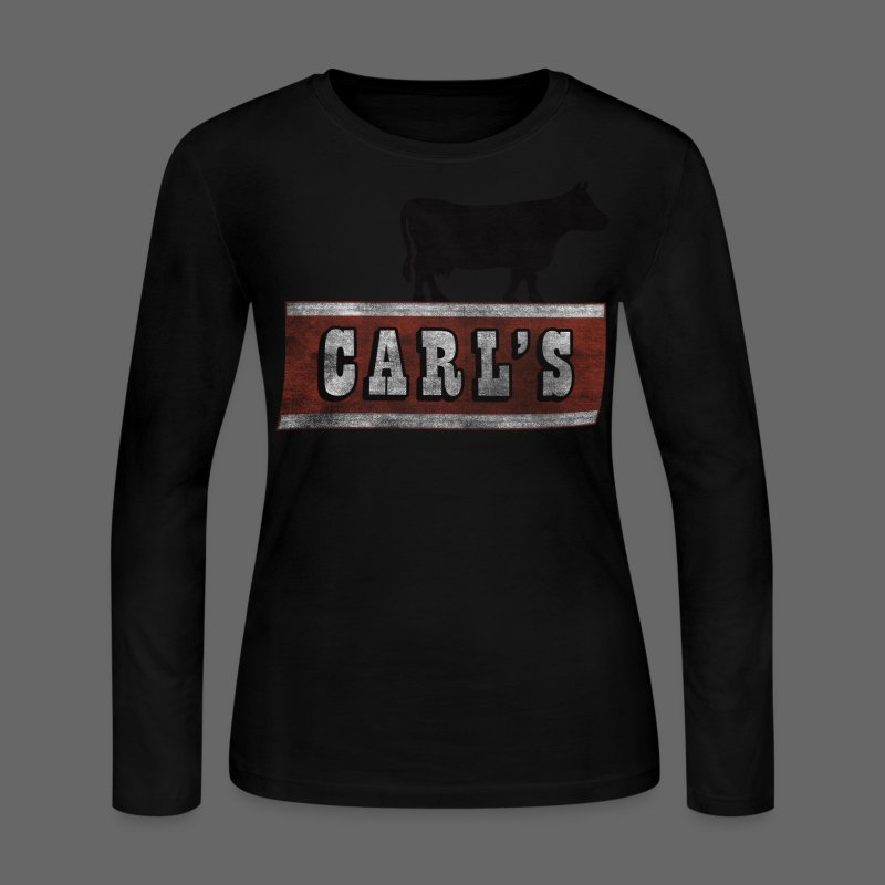 Carl's Chop House Women's Long Sleeve Jersey Tee - Women's Long Sleeve Jersey T-Shirt