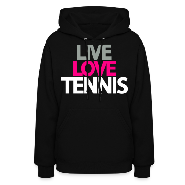 live love tennis Hoodies