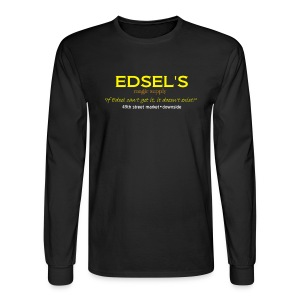 Edsel's Men's Long Sleeve T yellow print - Men's Long Sleeve T-Shirt