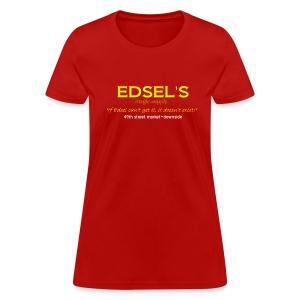 Edsel's Women's standard weight T yellow print - Women's T-Shirt