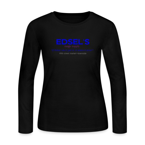 Edsel's Women's long sleeve jersey T blue print - Women's Long Sleeve Jersey T-Shirt