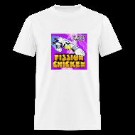 T-Shirts ~ Men's T-Shirt ~ Fission Chicken Lightweight Tee (White)