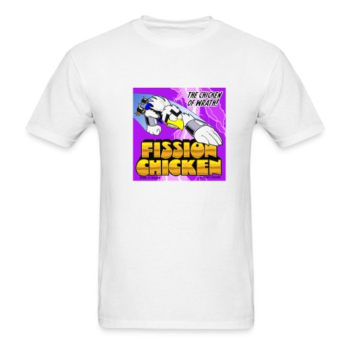 Fission Chicken Lightweight Tee (White) - Men's T-Shirt