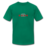 T-Shirts ~ Men's T-Shirt by American Apparel ~ bOOmbox - Choose your own dark AA shirt color