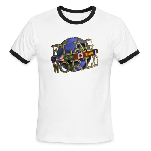 Men's Lightweight Ringer Tee - Single Logo - Men's Ringer T-Shirt