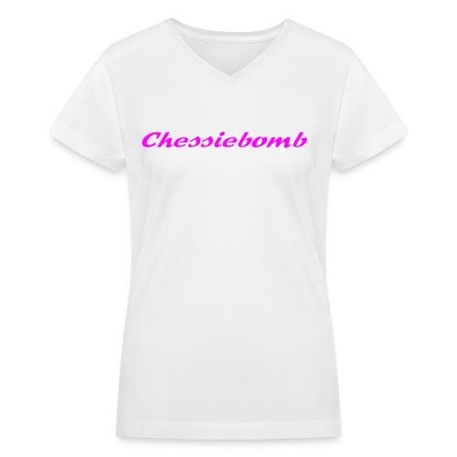 Chessiebomb Women's V-neck T - Women's V-Neck T-Shirt