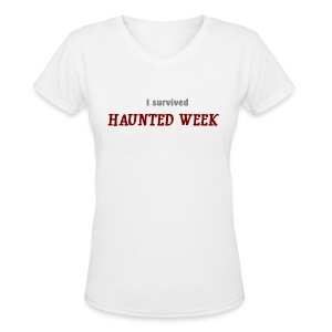 Haunted Week women's v-neck T - Women's V-Neck T-Shirt