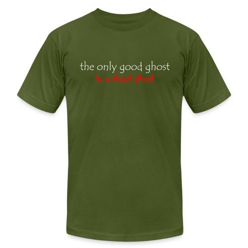 OnlyGood Ghost Men's AA T white print - Men's Fine Jersey T-Shirt