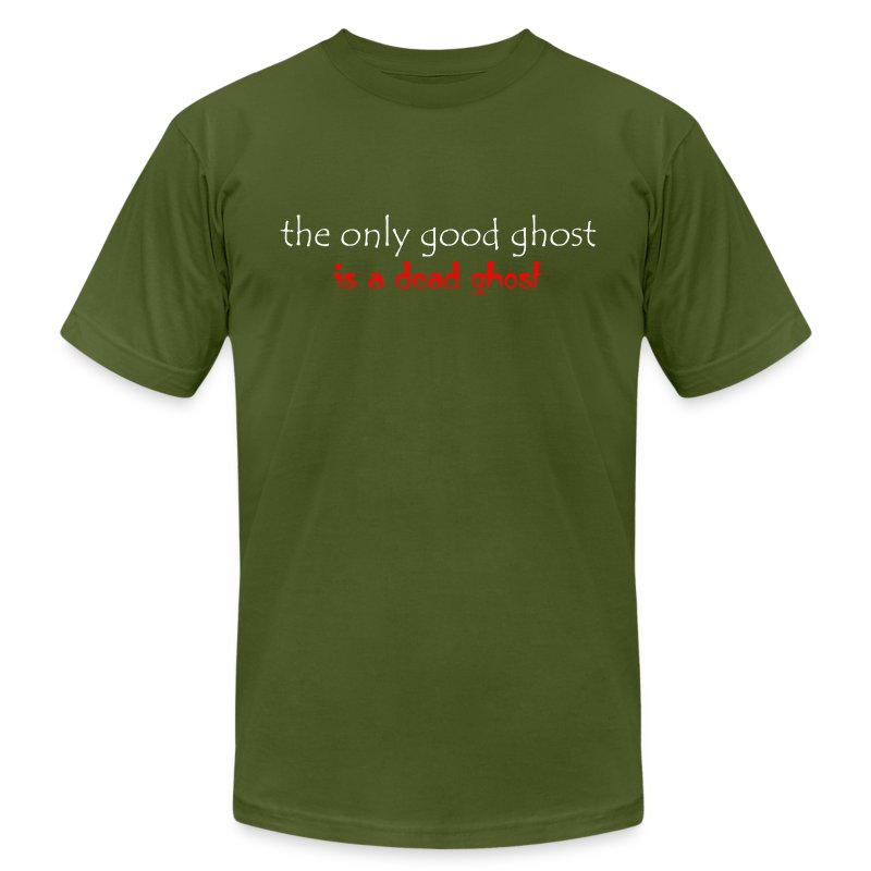 OnlyGood Ghost Men's AA T white print - Men's T-Shirt by American Apparel