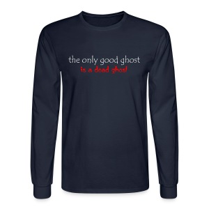 OnlyGood Ghost Men's long sleeve T white print - Men's Long Sleeve T-Shirt