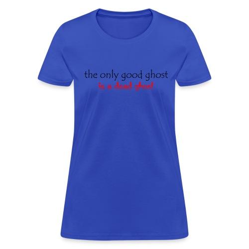 OnlyGood Ghost Women's standard weight T black print - Women's T-Shirt