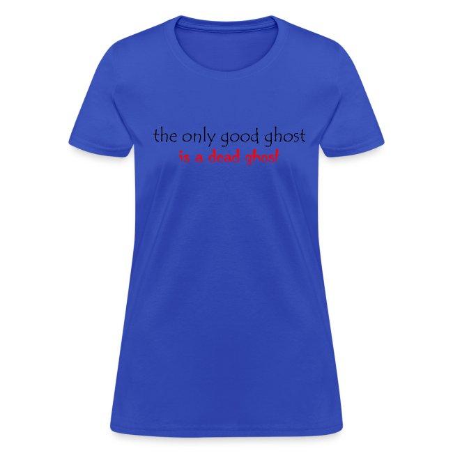 OnlyGood Ghost Women's standard weight T black print