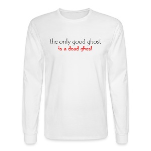 OnlyGood Ghost men's long sleeve T black print - Men's Long Sleeve T-Shirt