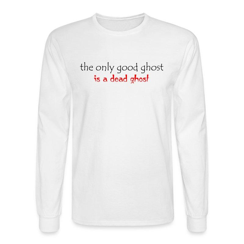 OnlyGood Ghost men's long sleeve T black print - Men's Long Sleeve T-Shirt