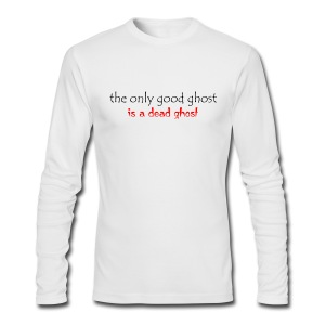 OnlyGood Ghost men's AA long sleeve T black print - Men's Long Sleeve T-Shirt by Next Level