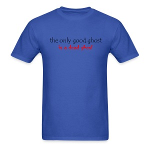 OnlyGood Ghost men's standard weight T black print - Men's T-Shirt
