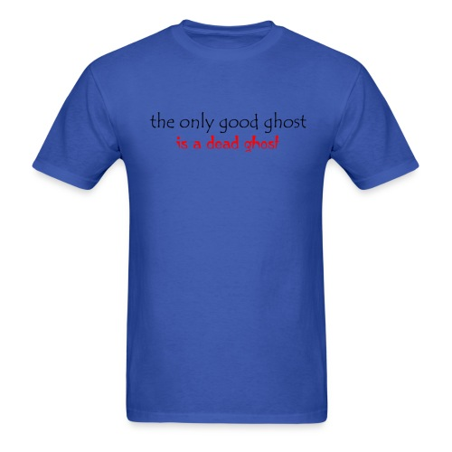 OnlyGood Ghost men's standard weight T black print - Men's T-Shirt