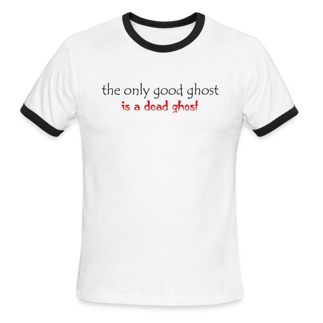 OnlyGood Ghost men's ringer T black print