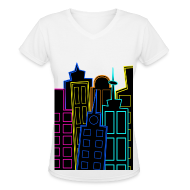 Women's T-Shirts ~ Women's V-Neck T-Shirt ~ [SHINee] Taemin's City