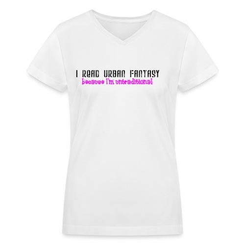 UF untraditional women's v-neck T - Women's V-Neck T-Shirt