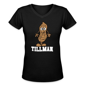 Peanut Tillman Women's V-Neck T-Shirt - Women's V-Neck T-Shirt