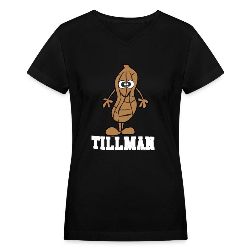 Peanut Tillman Women's V-Neck T-Shirt - Women's V-Neck T-Shirt