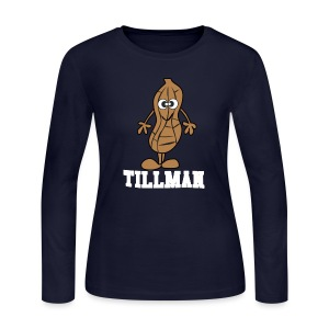 Peanut Tillman Women's Long Sleeve Jersey Tee - Women's Long Sleeve Jersey T-Shirt