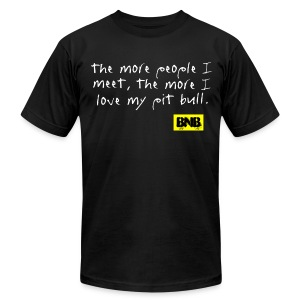 More People I Meet Men's Tee (Black) - Men's T-Shirt by American Apparel