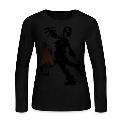 Zombie March - Women's Long Sleeve Jersey T-Shirt