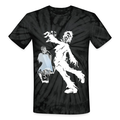 Zombie March -white- - Unisex Tie Dye T-Shirt