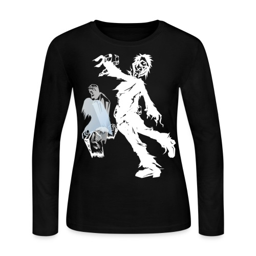Zombie March -white- - Women's Long Sleeve Jersey T-Shirt