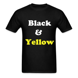 Black & Yellow - Black - Men's T-Shirt