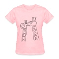 Giraffe and Snail Valentines day t-shirts