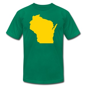 Wisconsin Silhouette - Men's T-Shirt by American Apparel