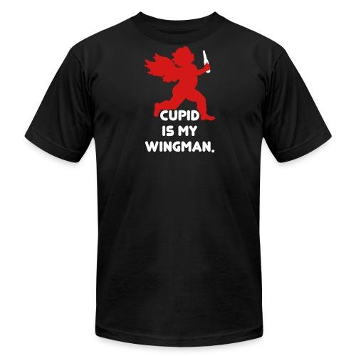 Cupid Is My Wingman - Men's Fine Jersey T-Shirt