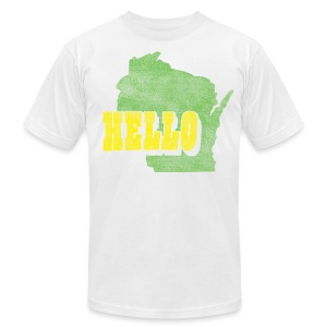 Hello Wisconsin - Men's T-Shirt by American Apparel