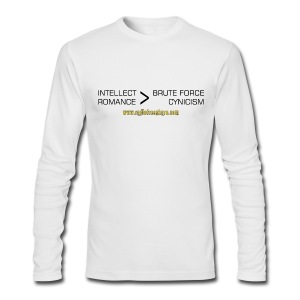 Intellect & Romance (AA Long Sleeve) - Men's Long Sleeve T-Shirt by Next Level