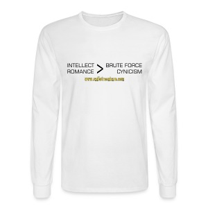 Intellect & Romance (Long Sleeve Tee) - Men's Long Sleeve T-Shirt