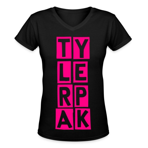 Girl Block - Women's V-Neck T-Shirt