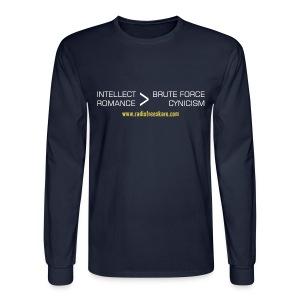 Intellect & Romance (Long Sleeve Shirt) - Men's Long Sleeve T-Shirt