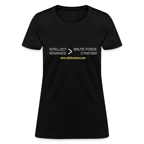 Intellect & Romance (T-Shirt) - Women's T-Shirt