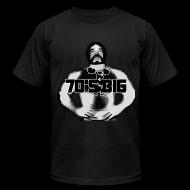 T-Shirts ~ Men's T-Shirt by American Apparel ~ 70's Big Original Black Logo - AA