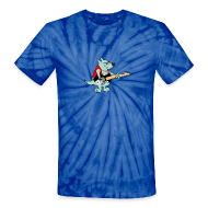 T-Shirts ~ Unisex Tie Dye T-Shirt ~ Guitar Dog - Tye Dye