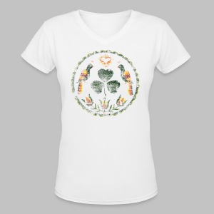 Irish Hex Symbol - Women's V-Neck T-Shirt