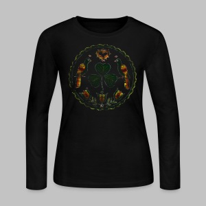Irish Hex Symbol - Women's Long Sleeve Jersey T-Shirt