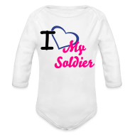 Baby & Toddler Shirts ~ Baby Long Sleeve One Piece ~ I heart my