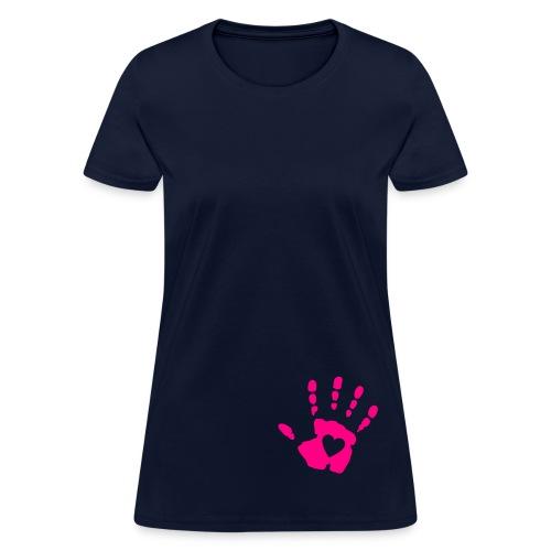 What Love Hand Print Ladies Tee - Women's T-Shirt