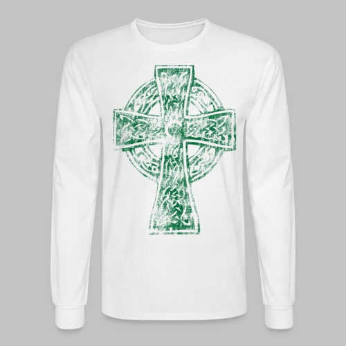 Irish Celtic Cross - Men's Long Sleeve T-Shirt