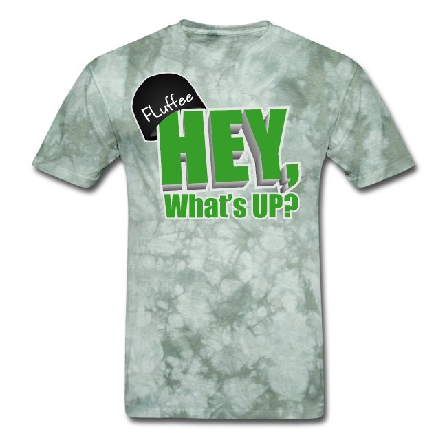 Men's T-shirt Hey, What's up? Green on Blue
