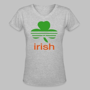 Irish Athletic Look - Women's V-Neck T-Shirt